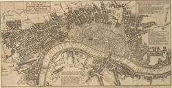 The city guide or a pocket map of London, Westminster and Southwark with ye new buildings to ye year 1744